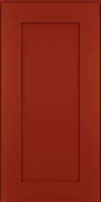 Square Recessed Panel - Solid (DRHM) Maple in Cardinal - Wall