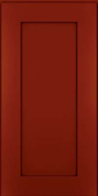 Square Recessed Panel - Solid (DRHM) Maple in Cardinal w/Onyx Glaze - Wall