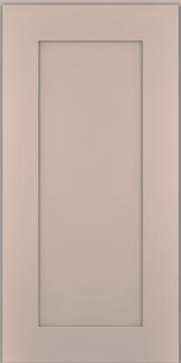 Square Recessed Panel - Solid (DRHM1) Maple in Chai w/Cinder Glaze - Wall