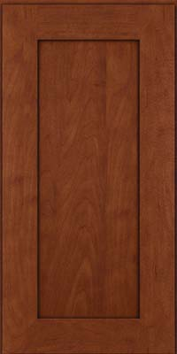 Square Recessed Panel - Solid (DRHM) Maple in Chestnut w/Onyx Glaze - Wall