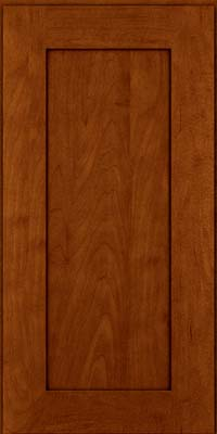 Square Recessed Panel - Solid (DRHM) Maple in Cinnamon w/Onyx Glaze - Wall