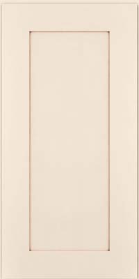 Square Recessed Panel - Solid (DRHM) Maple in Dove White w/Cocoa Glaze - Wall