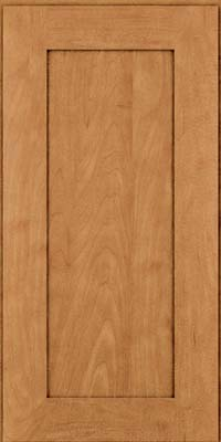 Square Recessed Panel - Solid (DRHM) Maple in Ginger w/Sable Glaze - Wall