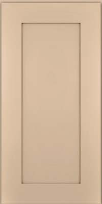 Square Recessed Panel - Solid (DRHM) Maple in Mushroom w/Cocoa Glaze - Wall
