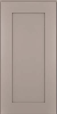 Square Recessed Panel - Solid (DRHM) Maple in Pebble Grey - Wall