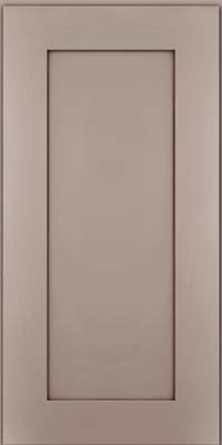 Square Recessed Panel - Solid (DRHM) Maple in Pebble Grey w/ Cocoa Glaze - Wall