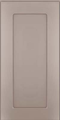 Square Recessed Panel - Solid (DRHM) Maple in Pebble Grey w/ Coconut Glaze - Wall