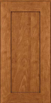 Square Recessed Panel - Solid (DRHM) Maple in Praline w/Onyx Glaze - Wall