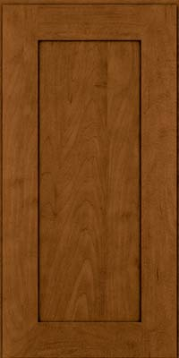 Square Recessed Panel - Solid (DRHM) Maple in Rye w/Sable Glaze - Wall
