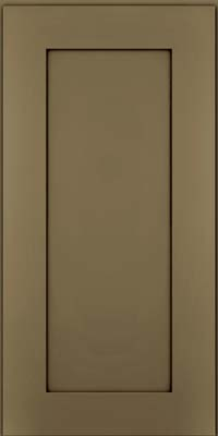 Square Recessed Panel - Solid (DRHM) Maple in Sage w/Cocoa Glaze - Wall