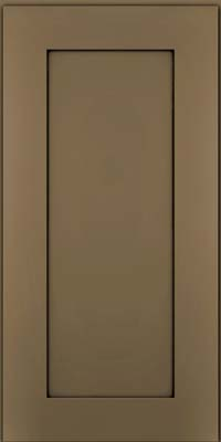 Square Recessed Panel - Solid (DRHM) Maple in Sage w/Onyx Glaze - Wall