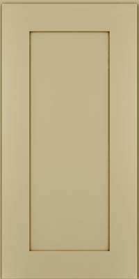 Square Recessed Panel - Solid (DRHM) Maple in Willow w/Cocoa Glaze - Wall