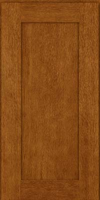 Square Recessed Panel - Solid (AB2O) Oak in Golden Lager - Wall