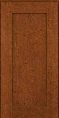 Square Recessed Panel - Solid (AB2O) Quartersawn Oak in Autumn Blush - Wall