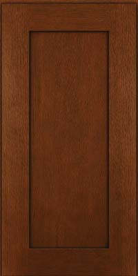 Square Recessed Panel - Solid (AB2O) Quartersawn Oak in Autumn Blush w/Onyx Glaze - Wall