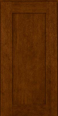 Square Recessed Panel - Solid (AB2O) Quartersawn Oak in Cognac - Wall