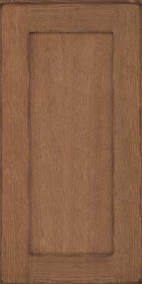 Square Recessed Panel - Solid (AB2O) Quartersawn Oak in Distressed Husk - Wall