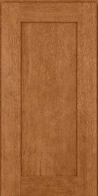 Square Recessed Panel - Solid (AB2O) Quartersawn Oak in Fawn - Wall