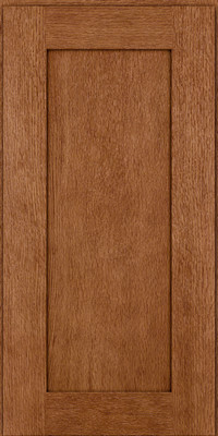 Square Recessed Panel - Solid (AB2O) Quartersawn Oak in Ginger w/Sable Glaze - Wall