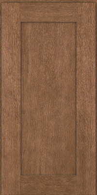 Square Recessed Panel - Solid (AB2O) Quartersawn Oak in Husk - Wall