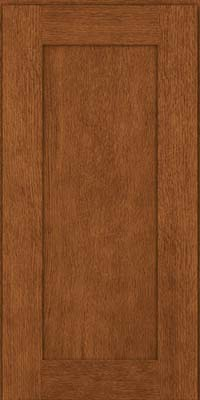 Square Recessed Panel - Solid (AB2O) Quartersawn Oak in Rye - Wall
