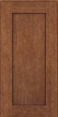 Square Recessed Panel - Solid (AB2O) Quartersawn Oak in Rye w/Onyx Glaze - Wall