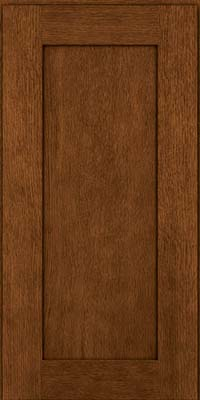 Square Recessed Panel - Solid (AB2O) Quartersawn Oak in Rye w/Sable Glaze - Wall