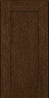 Square Recessed Panel - Solid (AB2O) Quartersawn Oak in Saddle - Wall