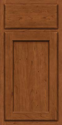 Square Recessed Panel - Veneer (GCS) Cherry in Antique Chocolate w/Mocha Glaze - Base