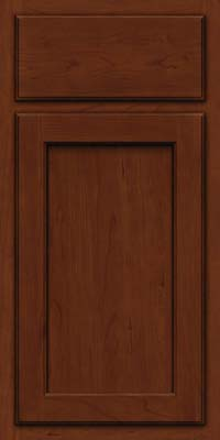 Square Recessed Panel - Veneer (GCS) Cherry in Autumn Blush w/Onyx Glaze - Base
