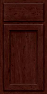 Square Recessed Panel - Veneer (GCS) Cherry in Cabernet - Base