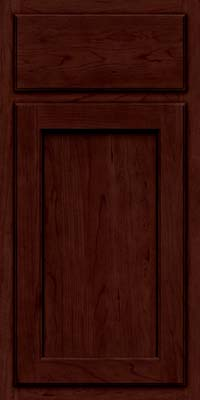 Square Recessed Panel - Veneer (GCS) Cherry in Cabernet w/Onyx Glaze - Base