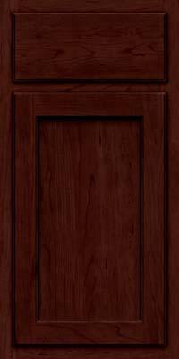 Square Recessed Panel - Veneer (GCS) Cherry in Cabernet w/Onyx Glaze - Base