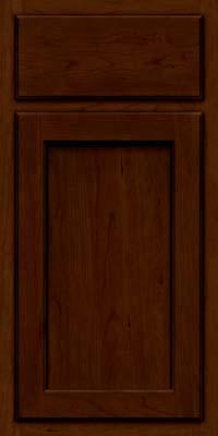 Square Recessed Panel - Veneer (GCS) Cherry in Chocolate w/Ebony Glaze - Base