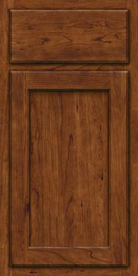 Square Recessed Panel - Veneer (GCS) Cherry in Cognac - Base