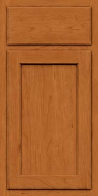 Square Recessed Panel - Veneer (GCS) Cherry in Honey Spice - Base