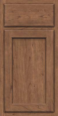 Square Recessed Panel - Veneer (GCS) Cherry in Husk - Base