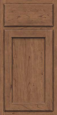 Square Recessed Panel - Veneer (GCS) Cherry in Husk Suede - Base