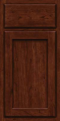 Square Recessed Panel - Veneer (GCS) Cherry in Kaffe - Base