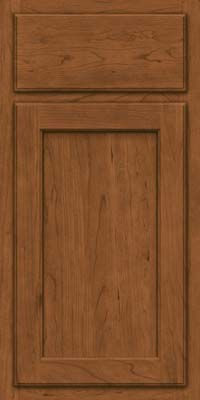 Square Recessed Panel - Veneer (GCS) Cherry in Rye - Base