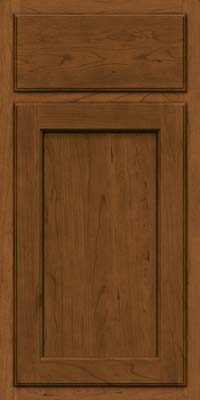 Square Recessed Panel - Veneer (GCS) Cherry in Rye w/Onyx Glaze - Base