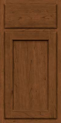 Square Recessed Panel - Veneer (GCS) Cherry in Rye w/Sable Glaze - Base