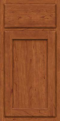 Square Recessed Panel - Veneer (GCS) Cherry in Sunset - Base