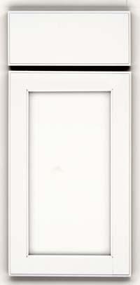 Square Recessed Panel - Veneer (AC2M) Maple in Dove White - Base