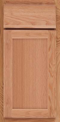 Square Recessed Panel - Veneer (AC2O) Oak in Natural - Base