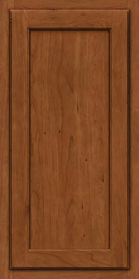 Square Recessed Panel - Veneer (GCS) Cherry in Antique Chocolate w/Mocha Glaze - Wall