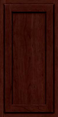 Square Recessed Panel - Veneer (GCS) Cherry in Cabernet w/Onyx Glaze - Wall