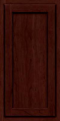 Square Recessed Panel - Veneer (GCS) Cherry in Cabernet w/Onyx Glaze - Wall