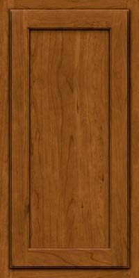Square Recessed Panel - Veneer (GCS) Cherry in Golden Lager - Wall
