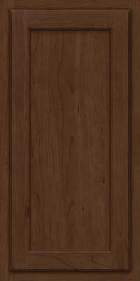 Square Recessed Panel - Veneer (GCS) Cherry in Saddle Suede - Wall